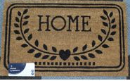 home stencilled coir mat