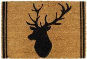 stag head coir mat
