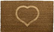 embossed heart pvc coir