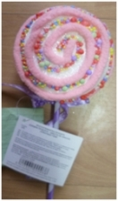 Polystyrene lollipop