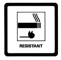Resistant label (smoking image)