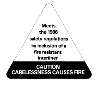 Fire resistant interliner label