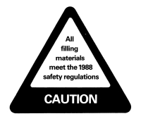 Caution label (1988 safety regulations)