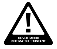 Cover fabric not match resistant