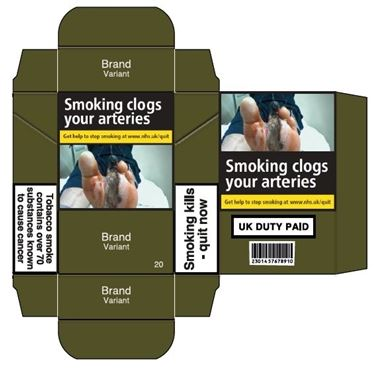 Generic cigarette packet