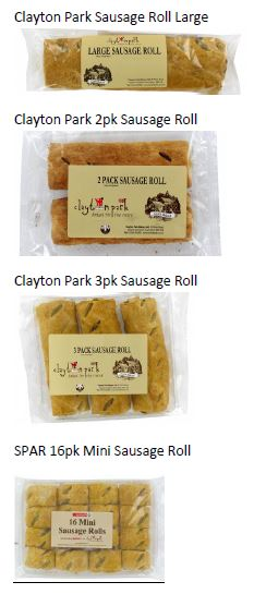 Clayton Park Sausage Roll Products