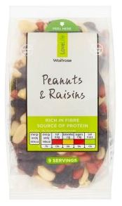 Waitrose Lovelife Peanuts & Raisins