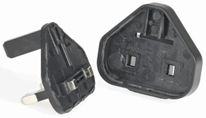 Broken detachable power plug