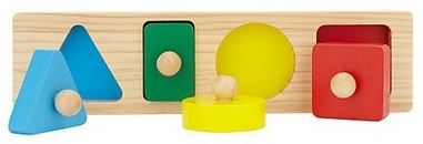 Wooden Shape and Colour Sorting Board