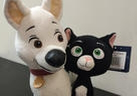 Disney Bolt and Mitten soft toy