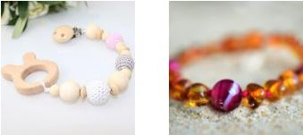 Amber and teething products