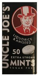 Uncle Joe's Liquorice and Aniseed Extra Strong Mints
