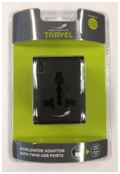 World Twin USB Black