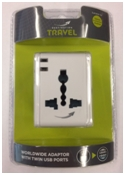 World Twin USB White