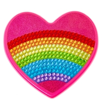 Bedazzled Rainbow Heart Makeup Set