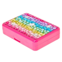 Rainbow Bedazzled Rectangle Make Up Set